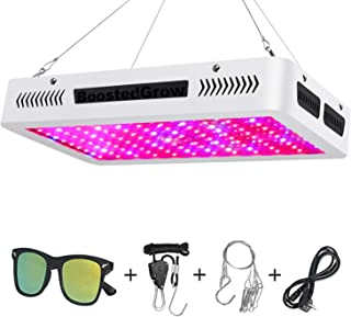 BoostedGrow Newest 1200W LED Plant Grow Light, Full Spectrum Plant Light for Indoor Plants Hydroponics Growing(10W LEDs 120Pcs)