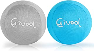 Hivool Hand Therapy Exercise Stress Ball, Gel Stress Balls with Soft/Hard Strengths, Easy Squeeze Ball for Resistance Training & Grip Strengthening, Hand Therapy and Anxiety Relief for Adults & Kids