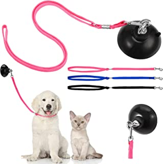 Frienda 4 Pieces Wash Dog Grooming Tub Restraint Set Include Dog Bathing Suction Cup Lead and Pet Bathing Tether Adjustabl...
