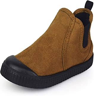 Sakuracan Toddler Kids Snow Boots Boys Girls Warm Winter Ankle Boots Slip-on Fur Lining Outdoor Shoes