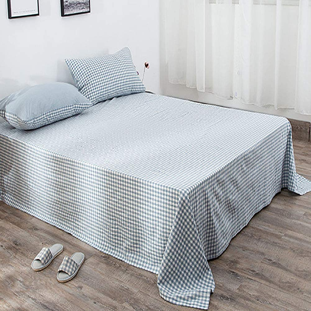 TIYKI 100% Washed Cotton Flat Breathable Bed 2021 L Sheet Spring new work Comfortable