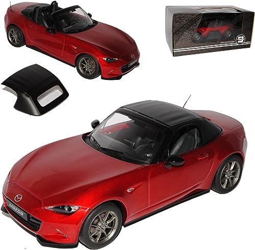 PremiumX Mazda MX5 ND Cabrio Rot Metallic mit abnehmbarem Soft Ab 2015 Limitiert 1 von 600 Triple 9 1 18 Modell Auto mit individiuellem Wunschkennzeichen