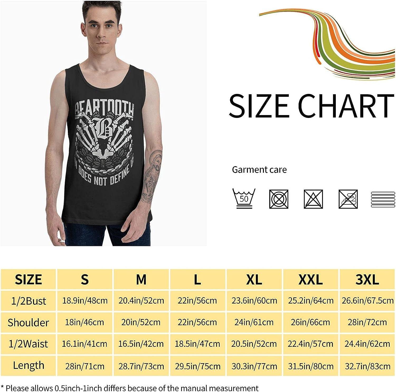 XIAIFUCF Bear-Tooth Logo Men's Tank Tops Cotton Sleeveless T-Shirts