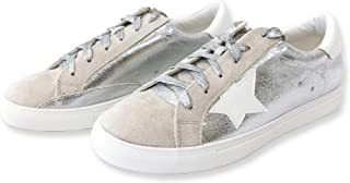 Nature Breeze Women Classic Two Tone Star Lace up Fashion Sneakers