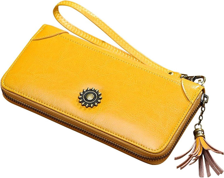 Cheryl Bull Fashion Womens Genuine Leather Long Wallet Purse