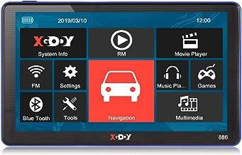Navigation GPS de voiture 480 /écran tactile TFT-LCD de 7 pouces Navigation de voiture Navigator GPS R/ésolution 256M 8GB FM Bluetooth Affichage 800 moyen-Orient