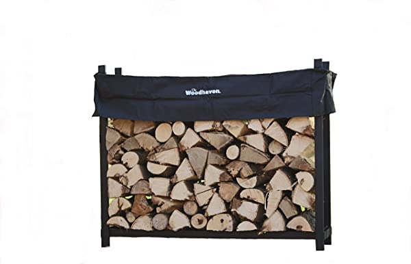 Woodhaven The 5 Foot Firewood Log Rack With Cover