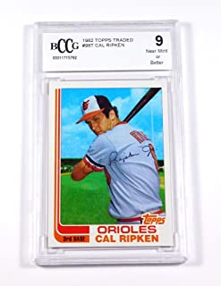 1982 Topps Traded Cal Ripken Jr. #98T Rookie Orioles BCCG 9 Baseball Graded Card