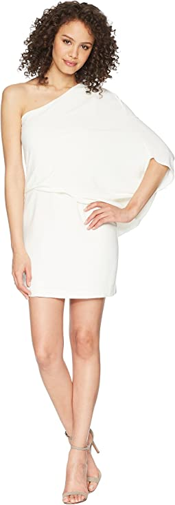 One Shoulder Asymmetrical Sleeve Dress