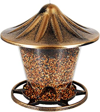 Twinkle Star Wild Bird Feeder Hanging for Garden Yard Outside Decoration, Antique Dome Shaped Roof