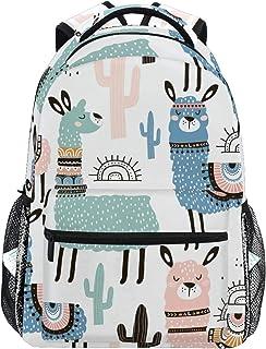 Mochila Escolar Llama Cactus Linda para niños, niñas, niños, Bolsa de Viaje, Mochila