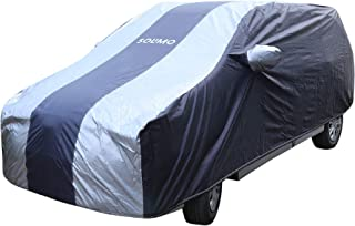 Amazon Brand - Solimo Toyota Innova Water Resistant Car Cover (Dark Blue & Silver)