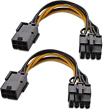 Cable Matters 2 Paquetes Cable PCIe 6 Pines a 8 Pines - 4 Pulgadas