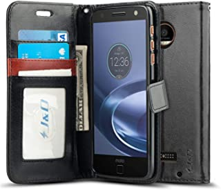 J&D Case Compatible for Moto Z Droid Case, [Wallet Stand] [Slim Fit] Heavy Duty Protective Shock Resistant Flip Cover Wall...
