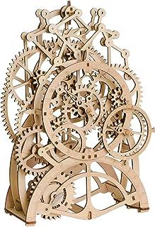 ROKR 3D ساخت پازل چوبی ساعت ساخت و ساز ساخت و ساز مدل مکانیکی ساعت هدیه آونگ ساختمان