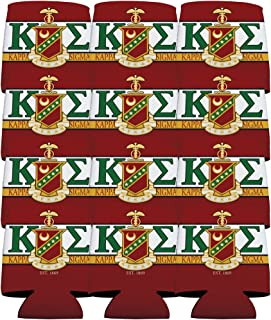 VictoryStore Can and Beverage Coolers - Kappa Sigma, KE and Shield Design, Set of 12
