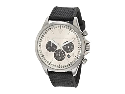 Michael Kors Gage Chronograph Silicone Watch (Black) Watches