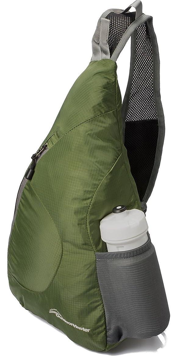 名目上の意味ぐるぐるOutdoorMaster ワンショルダーバッグ 斜めがけバッグ ボディバッグ メンズ レディース 折り畳み収納可能 アウトドア軽量 防水 7色