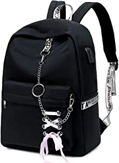HY760 Cute Casual Hiking Daypack Waterproof Bookbag School Bag Backpack for Girls Women