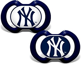 Baby Fanatic 2 Piece Team Colors Pacifier, New York Yankees