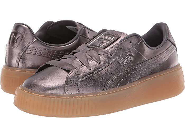 puma basket leather platform