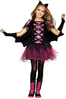 Fun World Big Girl's Bat Queen Costume for Kids Childrens Costume, Multi, Medium