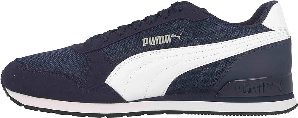 Puma st runner v2 mesh, scarpe sneakers unisex, in tela e pelle sintetica 366811