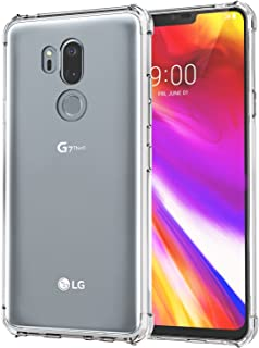[2 Pack] LG G7 Case/LG G7 ThinQ Case, SPARIN LG G7 ThinQ Case with Precise Cut-Out/Camera Protection/Scratch Resistance/Anti Watermark/Soft Nature TPU, 6.1 inch, Clear