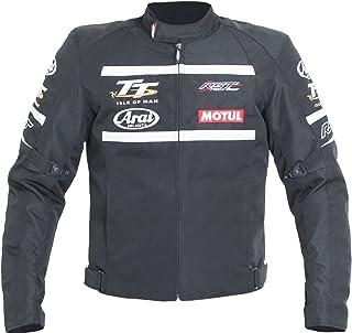 RST 1768 Isle Of Man TT IOM Motorbike Motorcycle Textile Jacket - Black/White XL