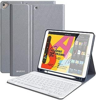 iPad Keyboard Case for New iPad 10.2 2019(7th Gen), iPad Air 10.5 2019, iPad Pro 10.5 2017 - Detachable Wireless Bluetooth Keyboard-Auto Sleep/Wake Magnetic Smart Case with Pencil Holder(Gray)
