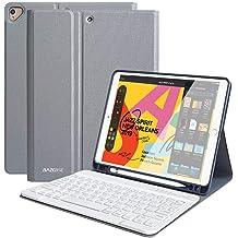 iPad Keyboard Case 10.2 8th//7th Gen for iPad 2020//2019 Wireless Detachable BT Keyboard Case with Pencil Holder Compatible for iPad 10.2// iPad Air 3// iPad Pro 10.5