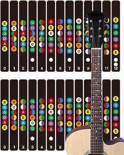 HIRAISM ギター 練習 指板 シール 初心者 グッズ スケール コード 2枚セット