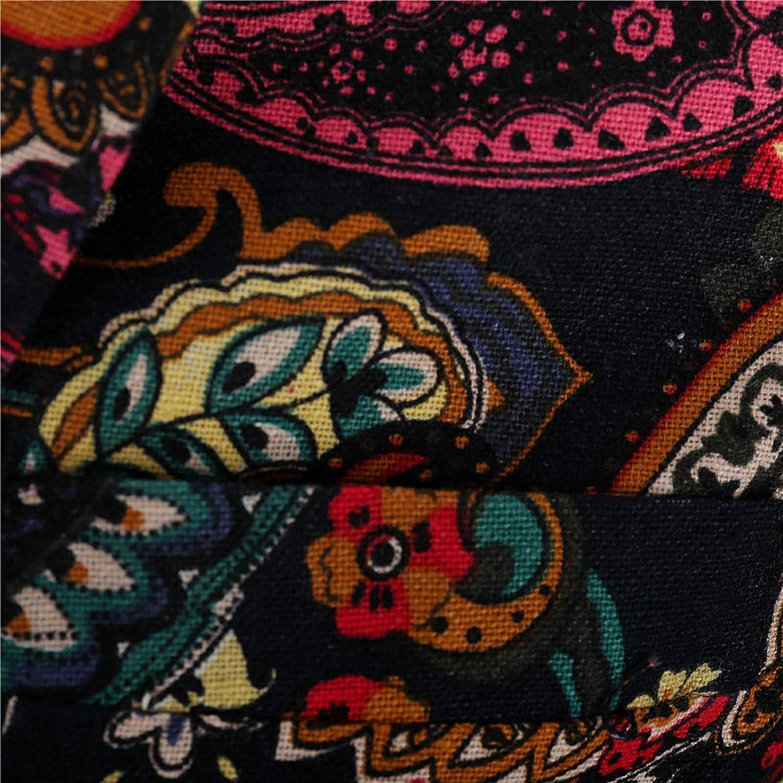 Mens Dress Floral Suit Slim Fit Single Breasted Stylish Printed Blazer Tuxedo Jacket Paisley Shawl Lapel Jacket