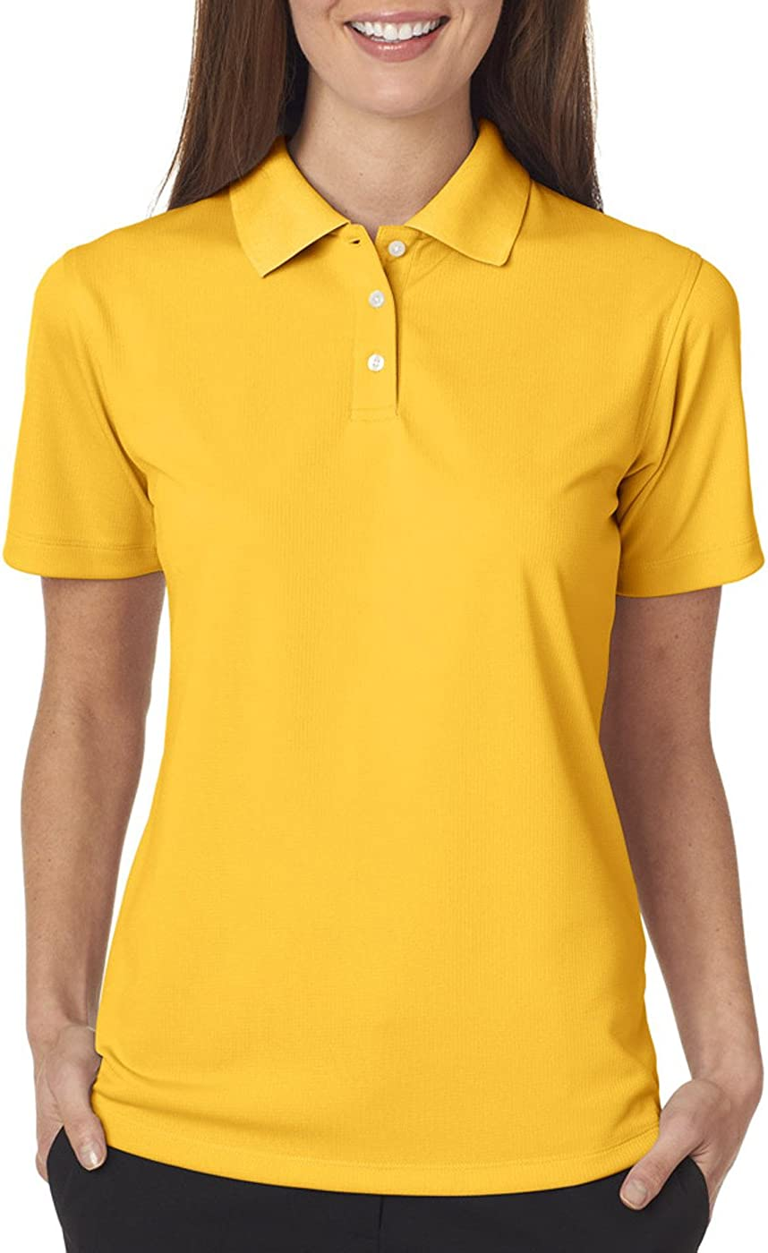 UltraClub Ladies' Cool & Dry Stain-Release Polo Shirt, Gold, XXX-Large