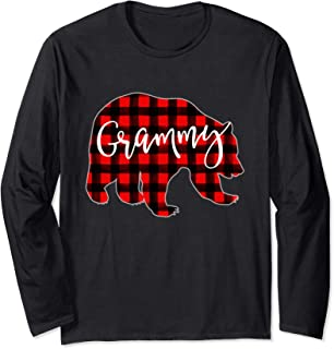 Red Plaid Grammy Bear Shirt Matching Pajama Family Buffalo