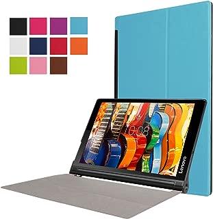 Asng Lenovo Yoga Tab 3 Plus/Lenovo Yoga Tab 3 Pro 10 Case - Ultra Slim Lightweight Standing Cover for Lenovo Yoga Tab 3 Plus YT3-X703F / Yoga Tab 3 Pro YT3-X90F 10.1-Inch Tablet (Sky Blue)