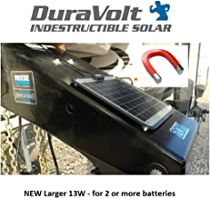 Fifth Wheel & Travel Trailer (Class B&C RV) 13 Watt 3/4 Amp NEW Hi Power magnetic for 2 or more 12V batteries - No experience Plug & Play Design. Dimensions 17.5