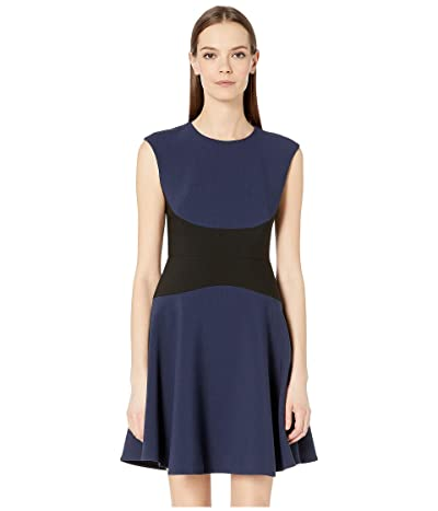 Kate Spade New York Color Block Crepe Dress (Parisian Navy) Women
