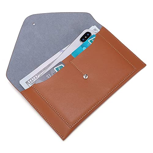 da1fe434fb77c3 PARAWEYSE Womens Envelope Clutch Wallet Leather Card Phone Coin Holder  Organizer