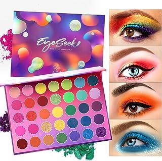 Eyeseek Colorful Eyeshadow Palette 35 Colors High Pigmented Makeup Palette Matte And Shimmer Glitter Eyeshadow Waterproof Long Lasting Eye Shadow Palette
