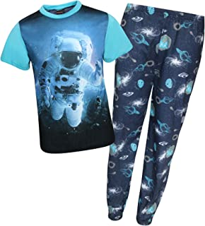 Boys 2-Piece Short Sleeve Sleepwear Pajama Set with Fun Prints