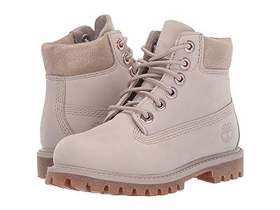 Timberland Kids 6 Premium Waterproof Boot (Toddler/Little Kid) (Light Taupe Nubuck) Girls Shoes