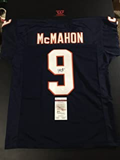 Authentic Autographed Jim Mcmahon Bears Sz Xl Jersey Football JSA Certified