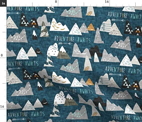 mountains Adventure awaits minky baby blanket