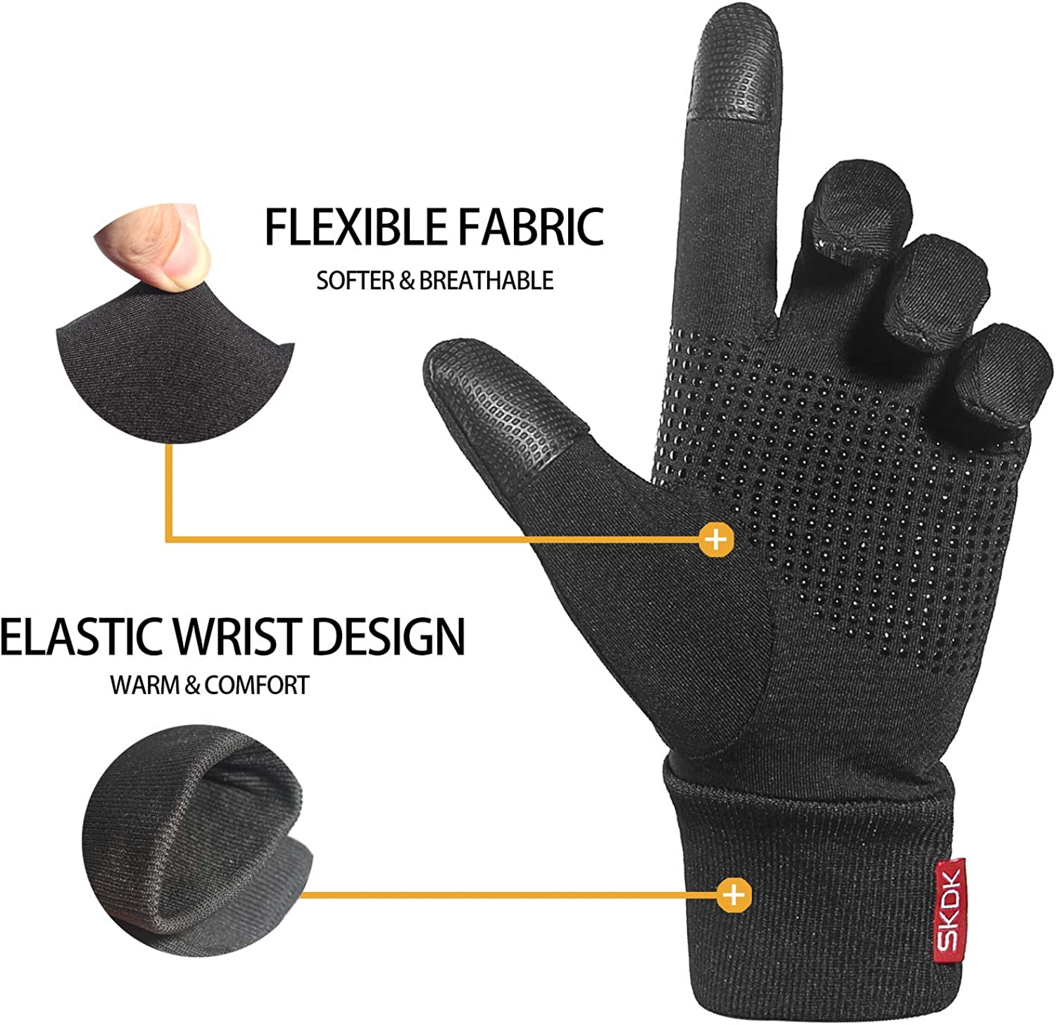 Gloves Touch Screen Cycling Gloves Black Bicycle Gloves Anti Slip Full Finger Riding Sports Bicycling Gloves