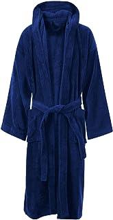 MyShoeStore Unisex 100% Luxury Egyptian Cotton Super Soft Velour Towelling Bath Robe Dressing Gowns Bathrobe Terry Towel H...