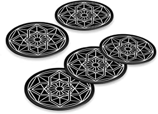 Mount Metal Plate with 3M Adhesive 5 Pack for Magnetic Cell Phone Car Mount, Stylish Universal Metal Disc Replacement Stic...