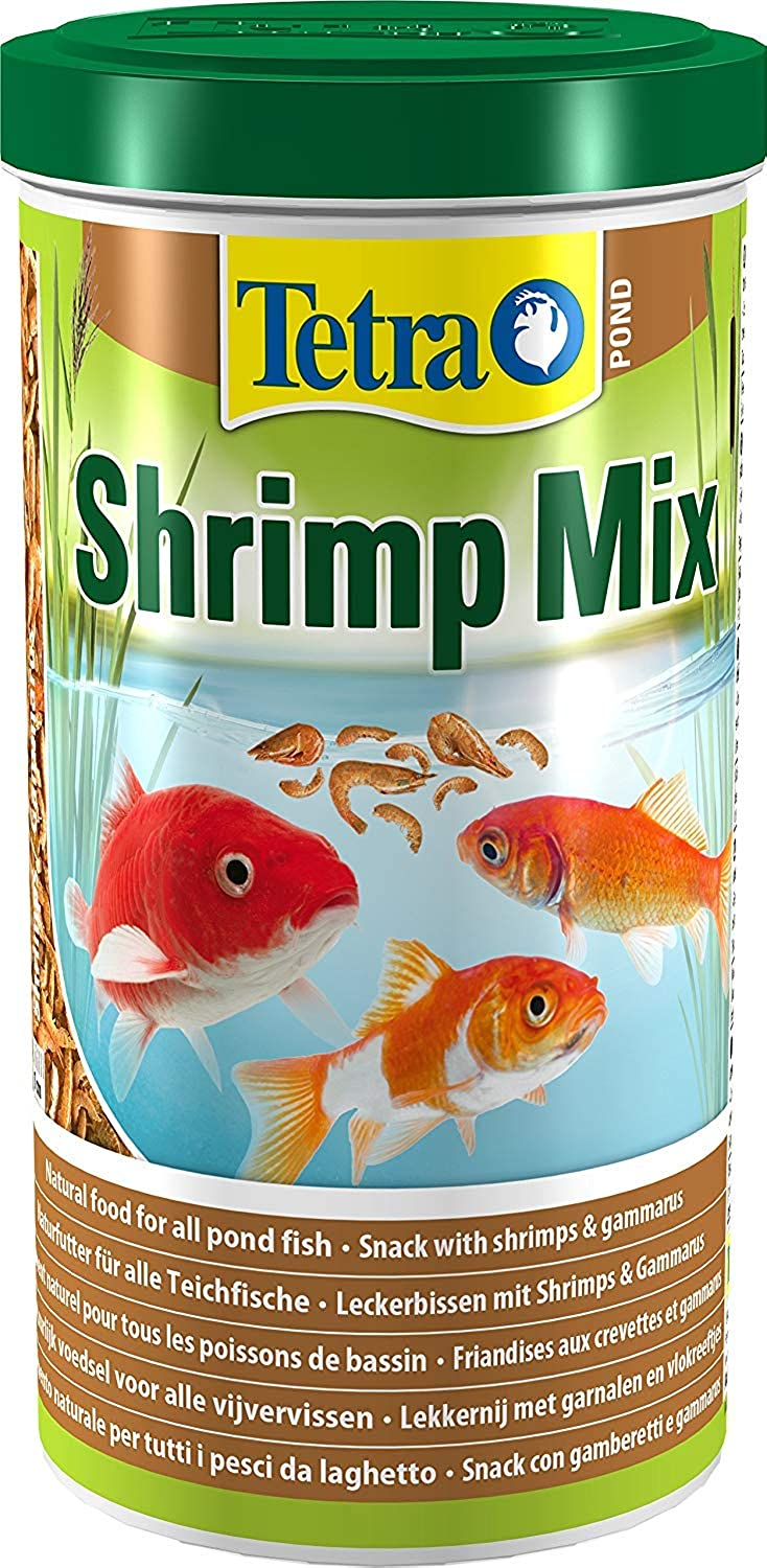 3X Pond Shrimp Mix, Natural Food Snack with Shrimps and Gammarus for All Pond Fish, 1 Litre
