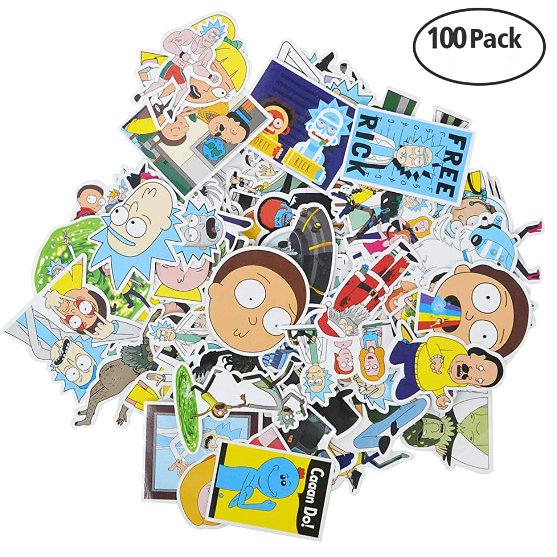 Stickers [50/100/104/110 PCS], Waterproof Vinyl Stickers for Laptop, Car, Bicycle, Helmet, Skateboard, Luggage No-Duplicate Stickers Per Set