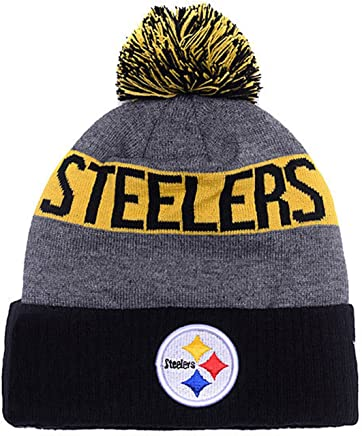 4d1895f3446b8 PIT STEELERS Adult Winter Knit Beanie Hat With Removable Pom Pom One Size  Fits Most Multicolor